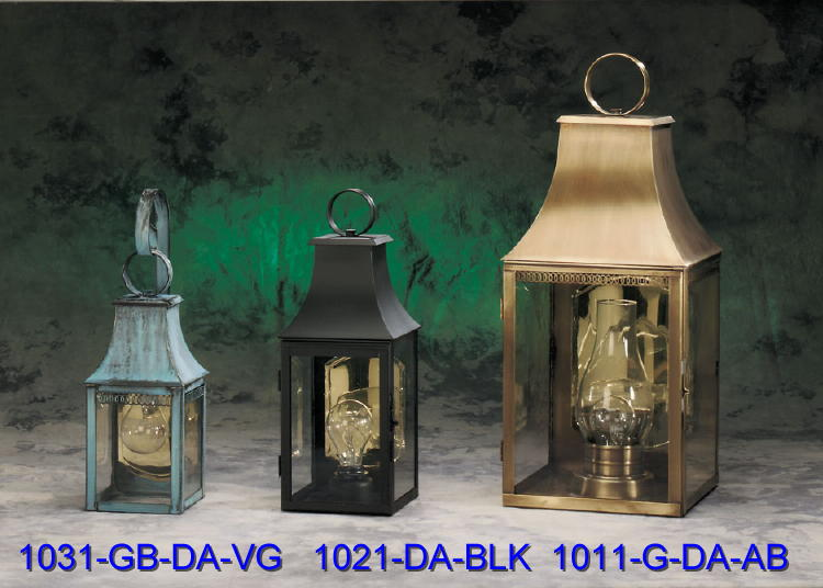 Brass Wall Sconces and Lantern