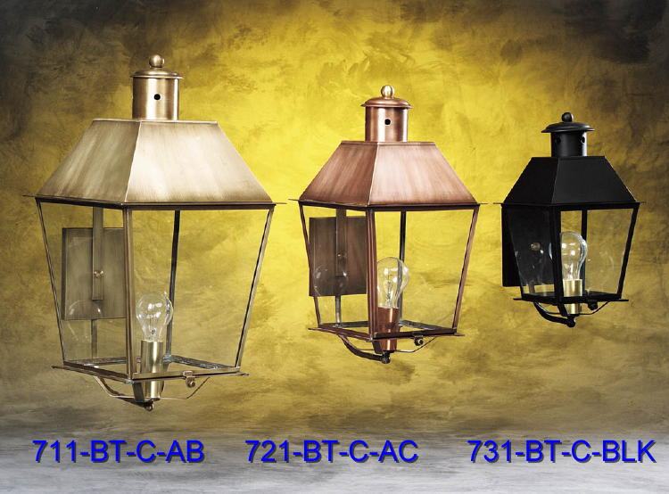 Brass and Copper Wall Fixtures